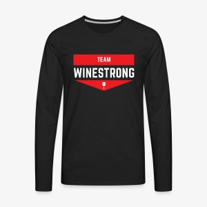 WineStrong Logo - Men's Premium Long Sleeve T-Shirt