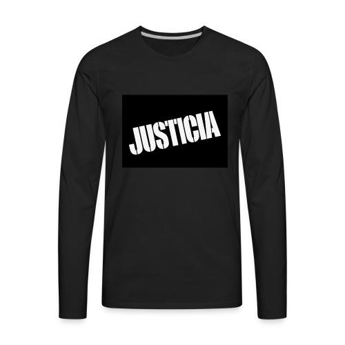 Justicia 2 Black - Men's Premium Long Sleeve T-Shirt