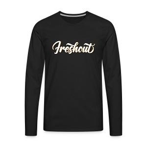 FRESHout Bubble Logo - Men's Premium Long Sleeve T-Shirt