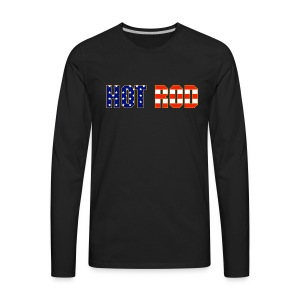 Hot Rod in Red and Blue - Men's Premium Long Sleeve T-Shirt