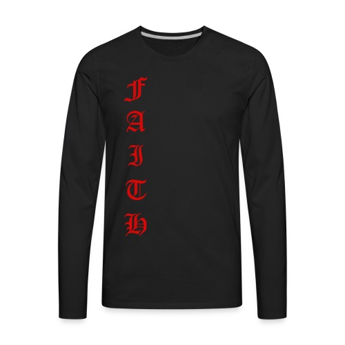 Faith Text - Men's Premium Long Sleeve T-Shirt