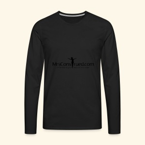 PNGMrsConstrued logo - Men's Premium Long Sleeve T-Shirt