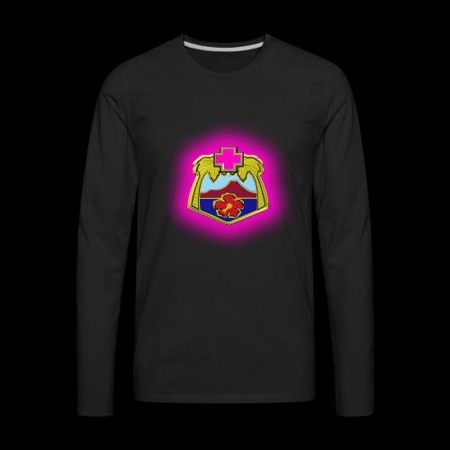 TRIPLER LOGO IN PINK - Men's Premium Long Sleeve T-Shirt