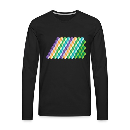 Cool Cubes Pattern - Men's Premium Long Sleeve T-Shirt