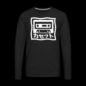 CASSETTE JAPENESE - Men's Premium Long Sleeve T-Shirt