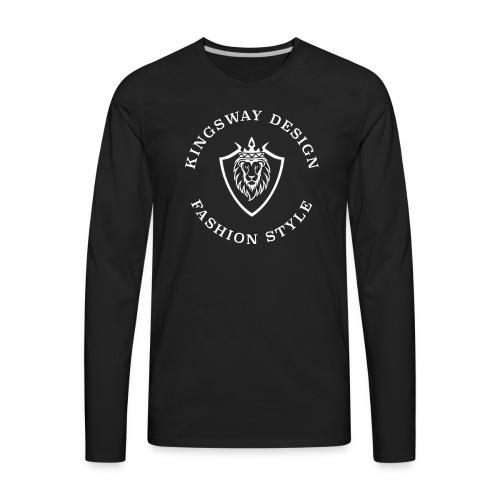 KINGSWAY DESIGN weiss - Men's Premium Long Sleeve T-Shirt