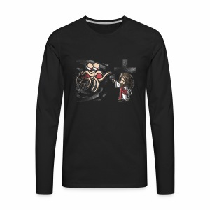 FSM and Jesus Face-off - Men's Premium Long Sleeve T-Shirt