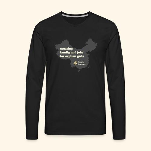 Josiah's Covenant - map - Men's Premium Long Sleeve T-Shirt