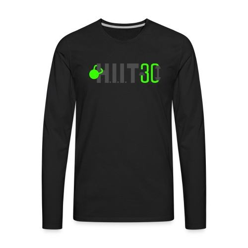 HIIT30_White - Men's Premium Long Sleeve T-Shirt