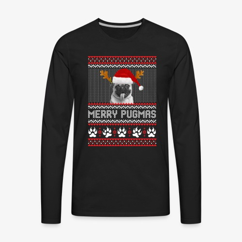 MERRY PUGMAS T-Shirt - Men's Premium Long Sleeve T-Shirt