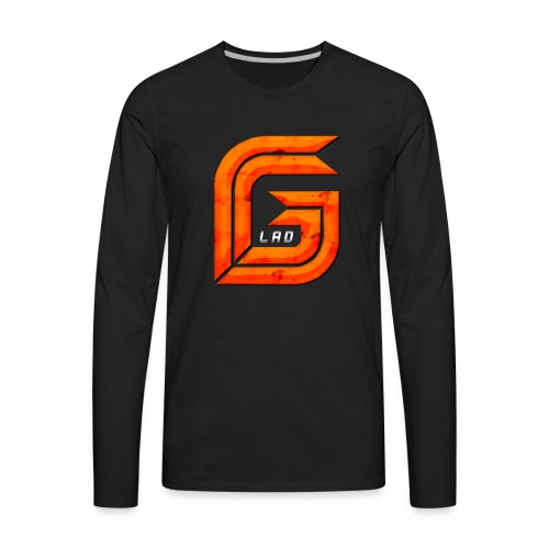 Classic Large GG Lad Logo - Men's Premium Long Sleeve T-Shirt
