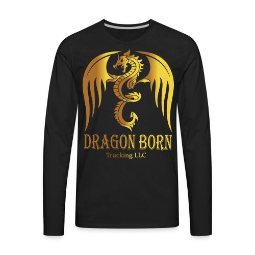 Dragon Born Logo Style 1 Gold - Men's Premium Long Sleeve T-Shirt