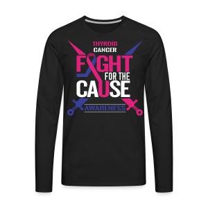Thyroid Cancer Awareness - Men's Premium Long Sleeve T-Shirt