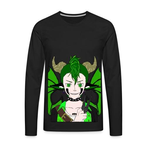 Anarchy punk demon by summer richey - Men's Premium Long Sleeve T-Shirt