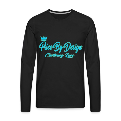 Price By Design Logo - Men's Premium Long Sleeve T-Shirt