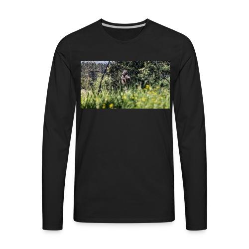 Baboon post - Men's Premium Long Sleeve T-Shirt