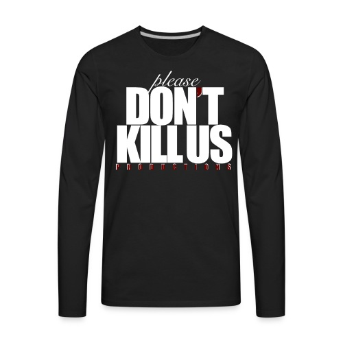 PDKUP White Logo - Men's Premium Long Sleeve T-Shirt