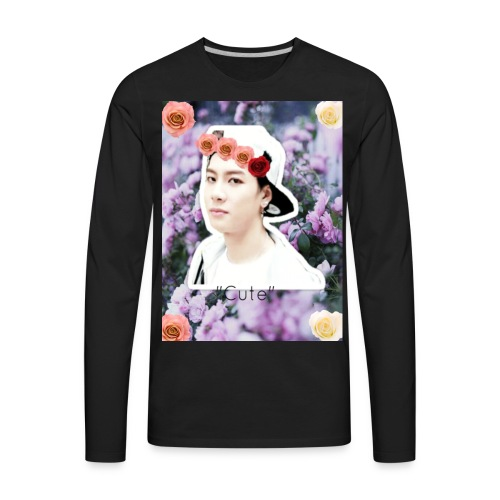 Jackson Wang- ''Cute'' - Men's Premium Long Sleeve T-Shirt