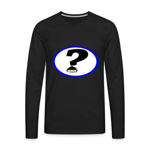 Mr Hat corner Logo - Men's Premium Long Sleeve T-Shirt