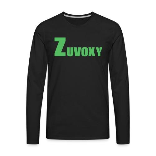 Zuvoxy Logo - Men's Premium Long Sleeve T-Shirt