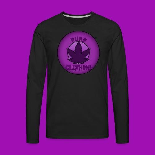 Purp Leaf Logo - Men's Premium Long Sleeve T-Shirt