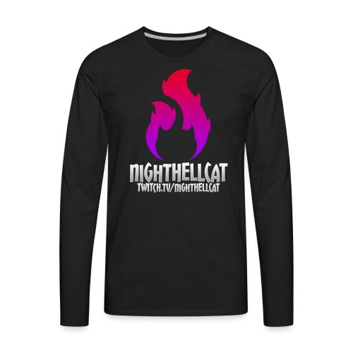 NightHellcat Twitch Logo - Men's Premium Long Sleeve T-Shirt