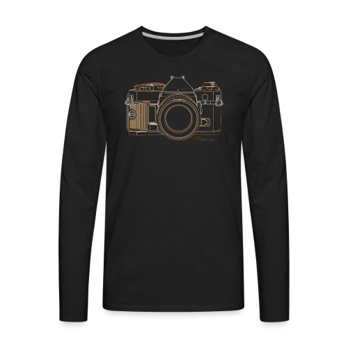 Camera Sketches - Canon AE1 Program - Men's Premium Long Sleeve T-Shirt