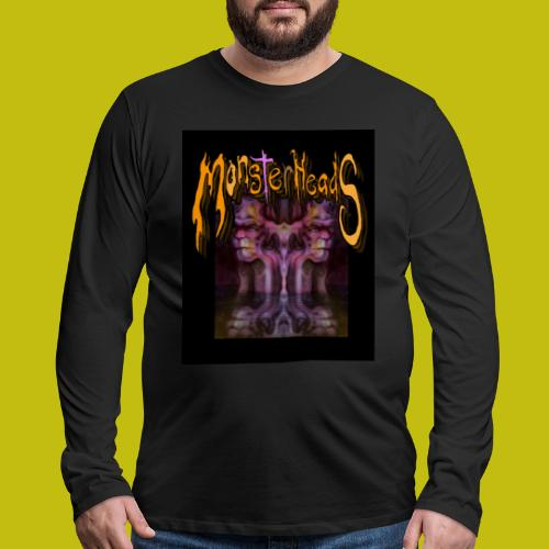 MonsterHeads ~ Purple Bio-Organic Frankenstein's. - Men's Premium Long Sleeve T-Shirt