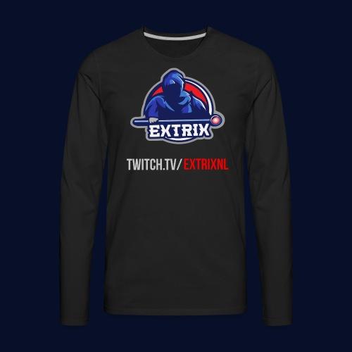 Extrix's Apprentice Logo + Twitch - Men's Premium Long Sleeve T-Shirt