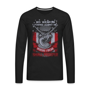 No weapon formed against me shall prosper - Men's Premium Long Sleeve T-Shirt