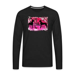 LAJE DANE LOGO PINK - Men's Premium Long Sleeve T-Shirt