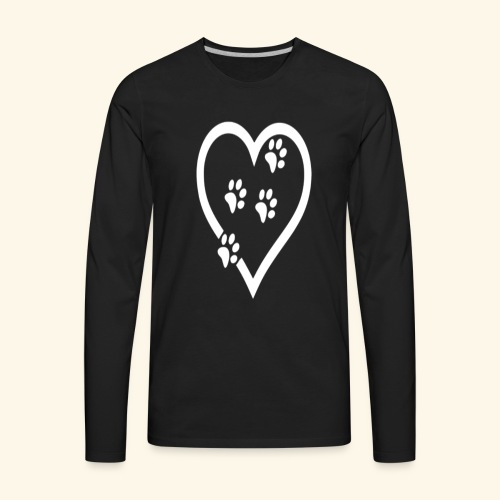 Cat lover Funny t shirt Cat Heart - Men's Premium Long Sleeve T-Shirt