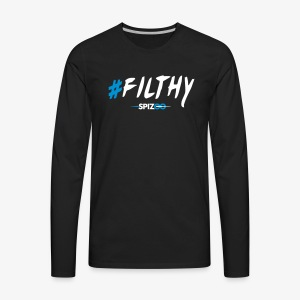 #Filthy Black - Spizoo Hashtags - Men's Premium Long Sleeve T-Shirt