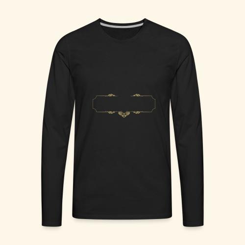 000673 Free Logo Maker Free Frame Logo design 01 - Men's Premium Long Sleeve T-Shirt