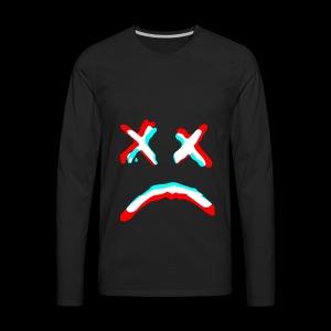 Sad face - Men's Premium Long Sleeve T-Shirt