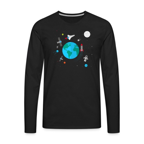 Z Space - Men's Premium Long Sleeve T-Shirt