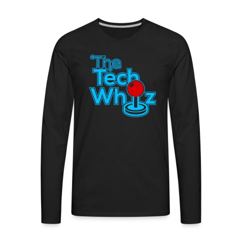TheTechWhiz Stacked Logo - Men's Premium Long Sleeve T-Shirt