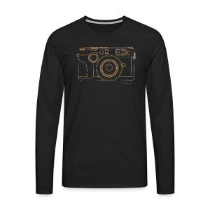 Camera Sketches - Contax G2 - Men's Premium Long Sleeve T-Shirt