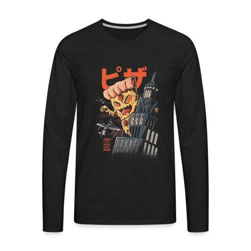 Pizza Kong logo - Men's Premium Long Sleeve T-Shirt