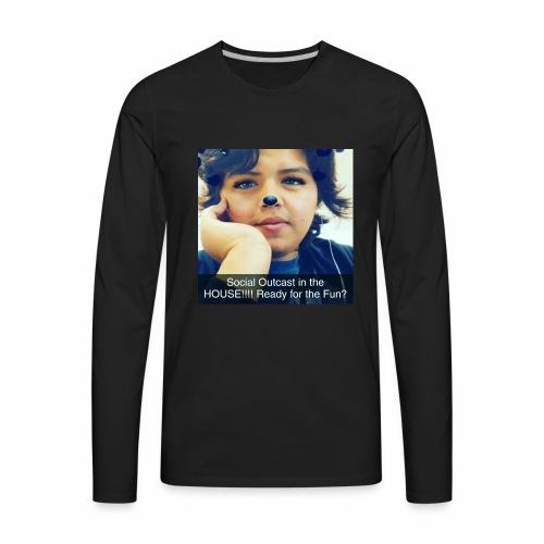 Social Outcast Art! - Men's Premium Long Sleeve T-Shirt