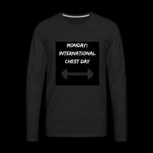 International chest day - Men's Premium Long Sleeve T-Shirt