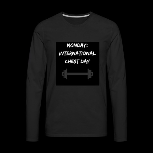 International chest day - Men's Premium Long Sleeve T-Shirt