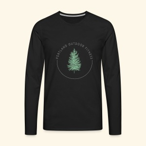 Circle Logo Bolded - Men's Premium Long Sleeve T-Shirt