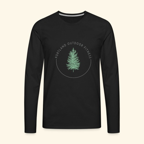Circle Logo Bolded - Men's Premium Long Sleeve T-Shirt