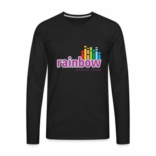 Rainbow Colorful Ideas - Men's Premium Long Sleeve T-Shirt