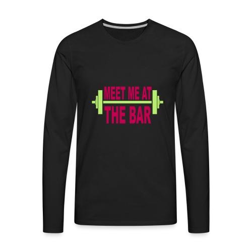 meet_me_at_the_bar_2_spreadsheet - Men's Premium Long Sleeve T-Shirt