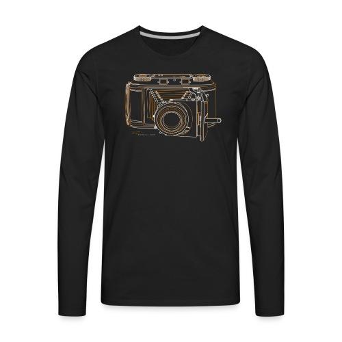 Camera Sketches - Voigtlander Synchro Compur - Men's Premium Long Sleeve T-Shirt