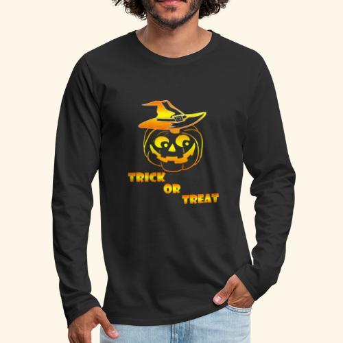 Halloween Trick or treat - Men's Premium Long Sleeve T-Shirt