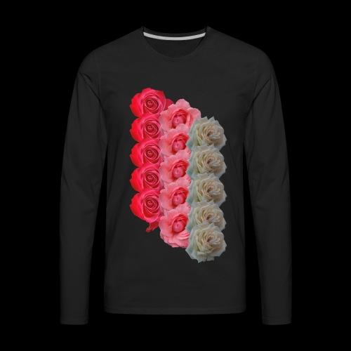 Floral Stripes - Men's Premium Long Sleeve T-Shirt