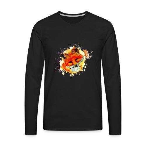 fox face - Men's Premium Long Sleeve T-Shirt